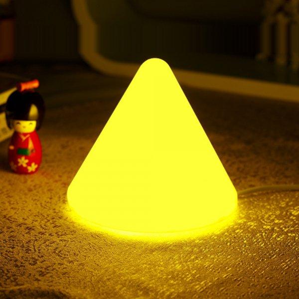Cone Shape Lamp LED Light Yellow