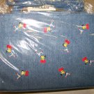 NWT PREZZO DENIM SHOULDERBAG WITH CHEERLEADER DESIGN