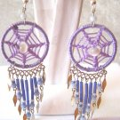 LOOK! LAVENDER DREAM CATCHER EARRINGS & ALPACA SILVER