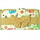 NaRaYa Thai Cotton Trifold Wallet Clutch Bag Purse Checkbook / Thai Elephant
