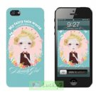 Apple iPhone 5/5S Hard Case Cover Skin Shell : Flowers And Beauty Girl Collection / Bluish-green