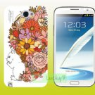 SAMSUNG Galaxy Note II 2 Hard Back Case Cover Skin Shell : SQUIRREL & FLOWERS