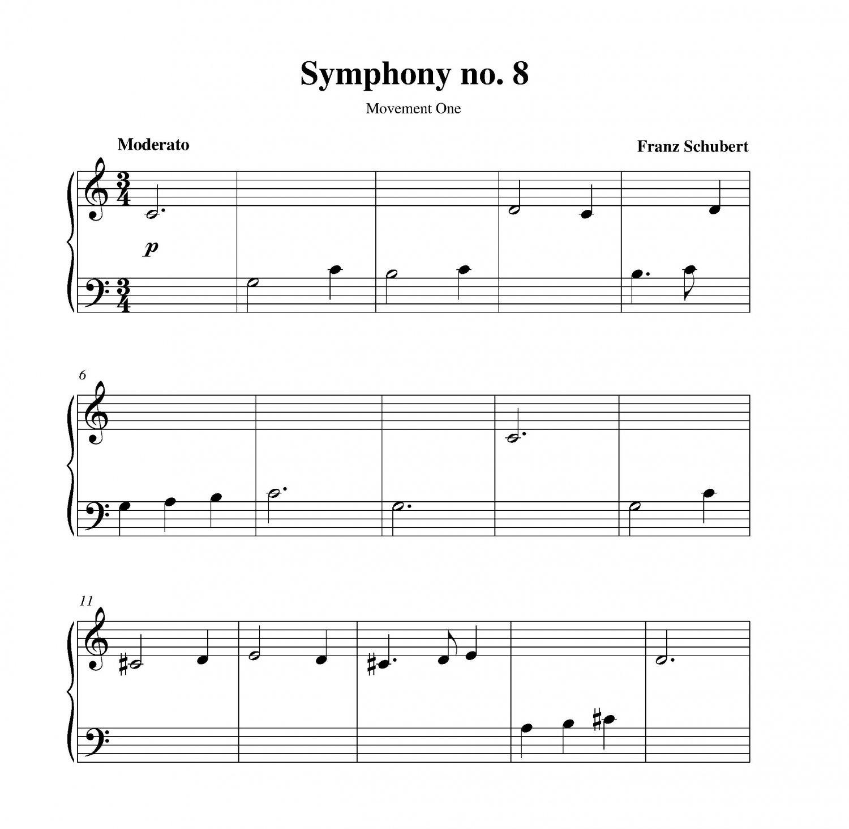 Nessun Dorma Lyrics Sheet Music: Symphony No. 8 (Unfinished