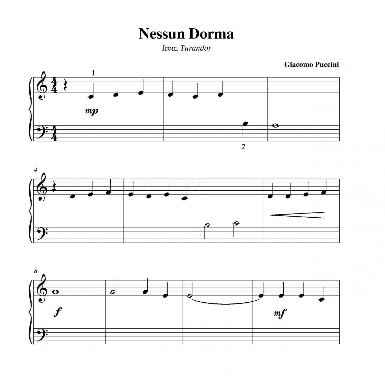 Nessun Dorma Lyrics Sheet Music: Nessun Dorma