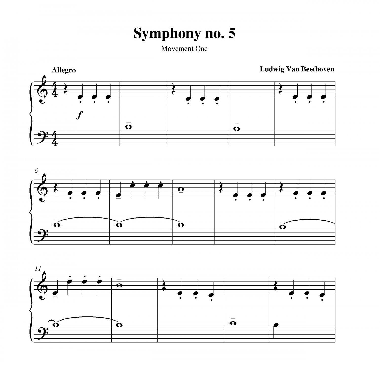 Symphony No.5 C minor Op. 67 - Ludwig van Beethoven, Piano ...