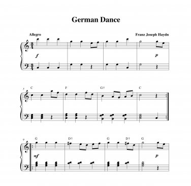 Haydn - German Dance