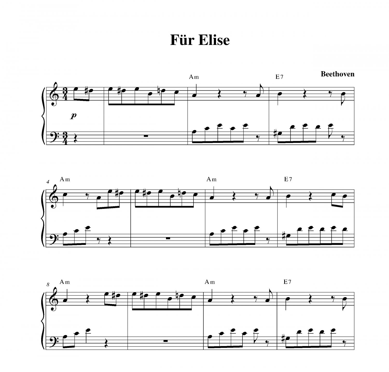 Fur Elise By Beethoven For Beginners Music For Music: Für Elise (longer Version