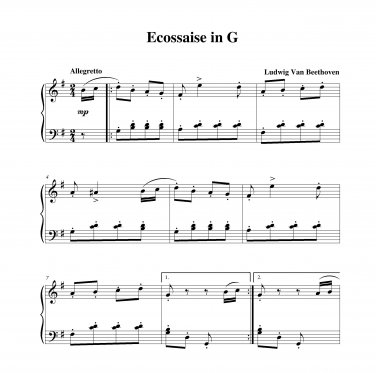 Beethoven - Ecossaise in G