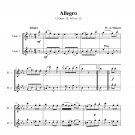 Mozart - Allegro K. 487 no. 12