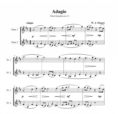 Mozart - Adagio from Sonatina no. 6