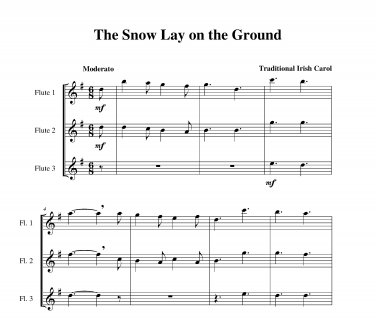 Snow Lay on the Ground, The