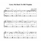 Carry Me Back To Old Virginia