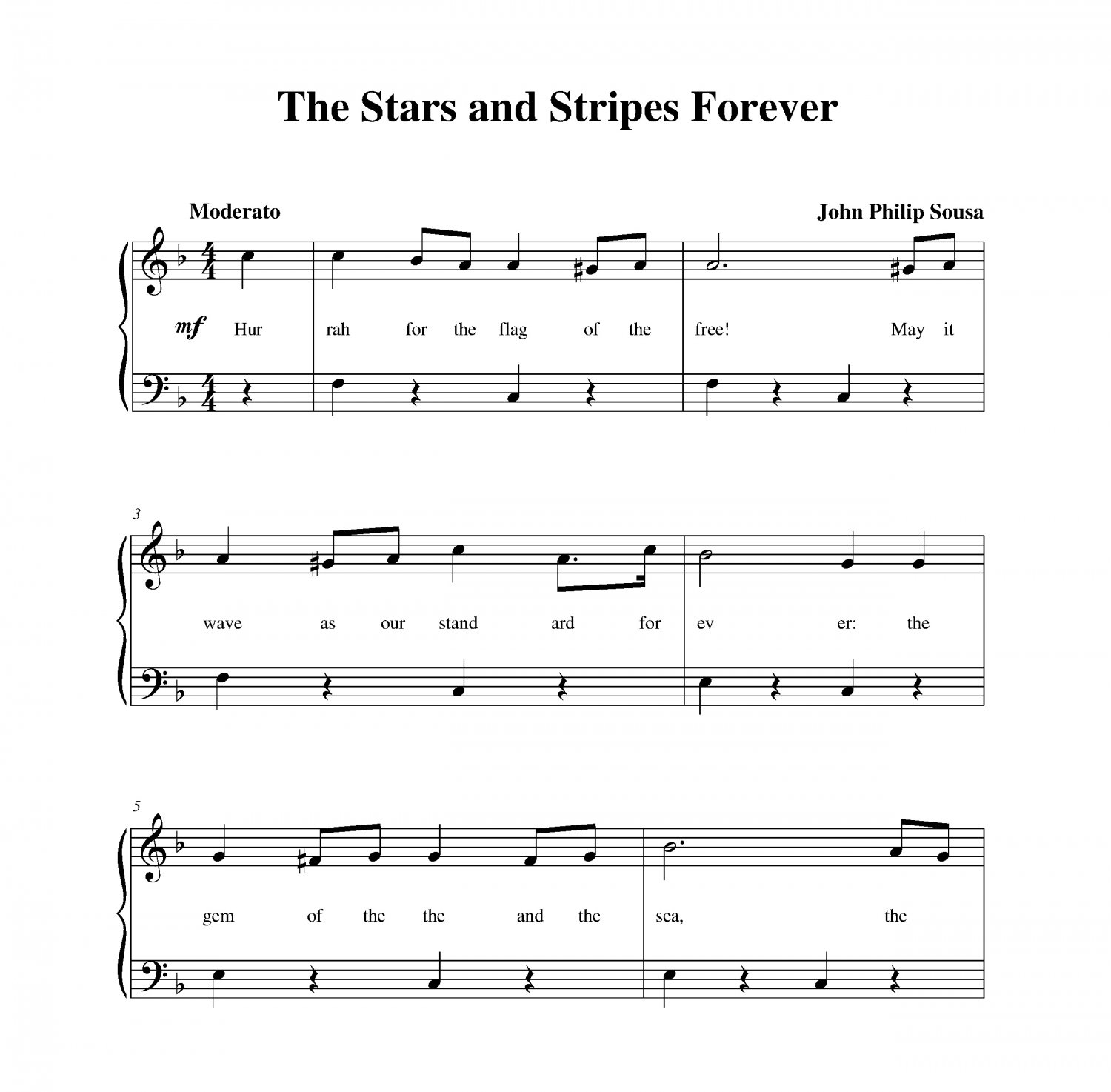 Full Theme Sheet Music Theoffice Us: Stars And Stripes Forever, The
