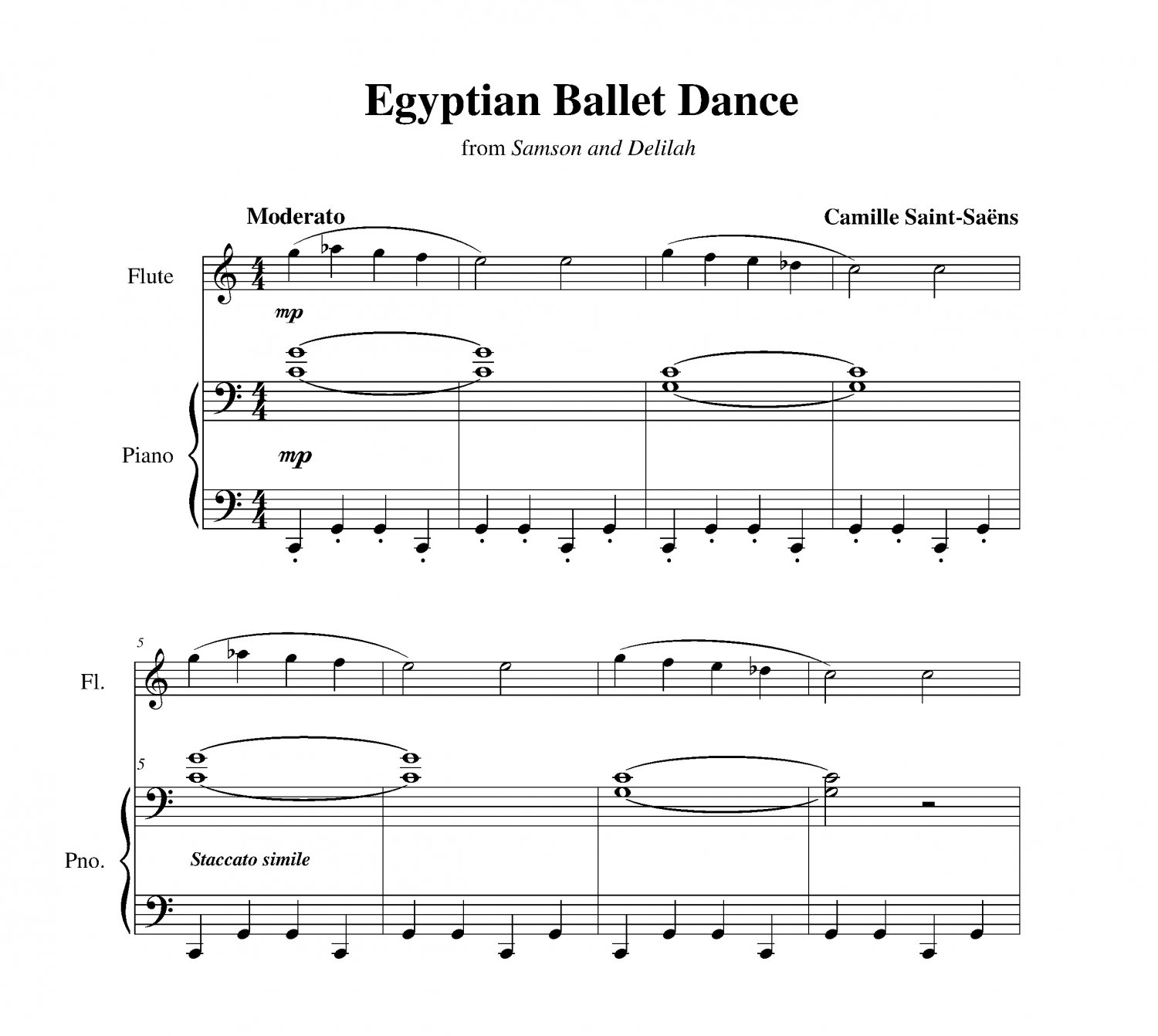 Saint-Saëns - Egyptian Ballet Dance