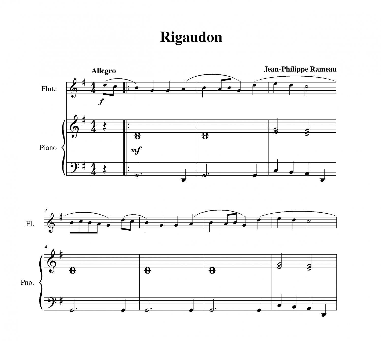Nessun Dorma Lyrics Sheet Music: Rigaudon
