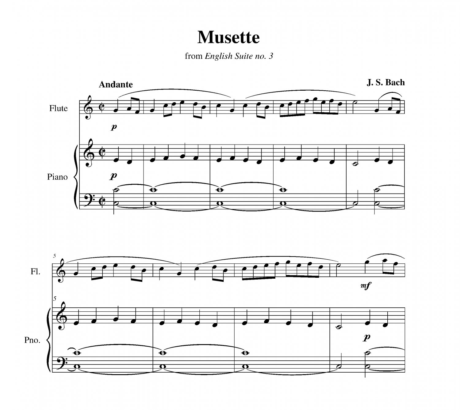 Bach - Musette from English Suite no. 3
