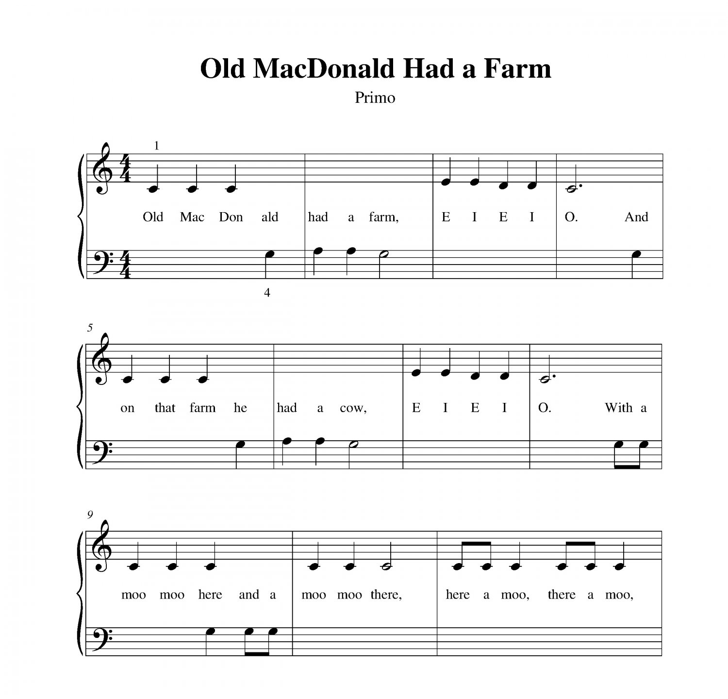 coloring pages old macdonald song - photo#24