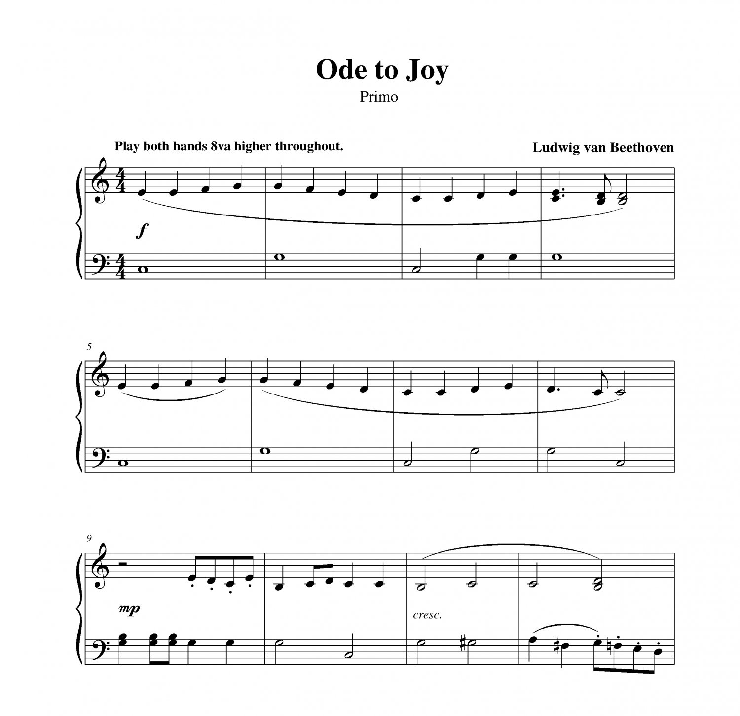 Beethoven - Ode to Joy