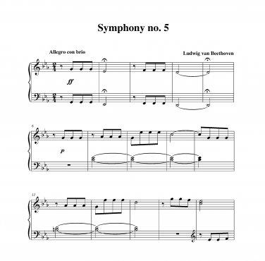 Beethoven - Symphony no. 5 Themes