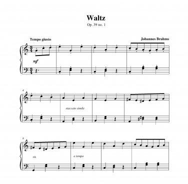 Brahms - Waltz op. 39 no. 1