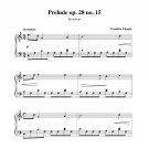 Chopin - Prelude op. 28 no. 15 (Raindrop)