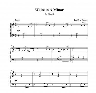Chopin - Waltz in A Minor op. 34 no. 2