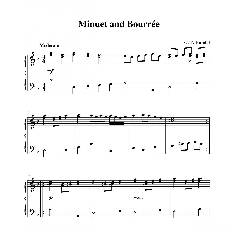 Handel - Minuet and Bourrée