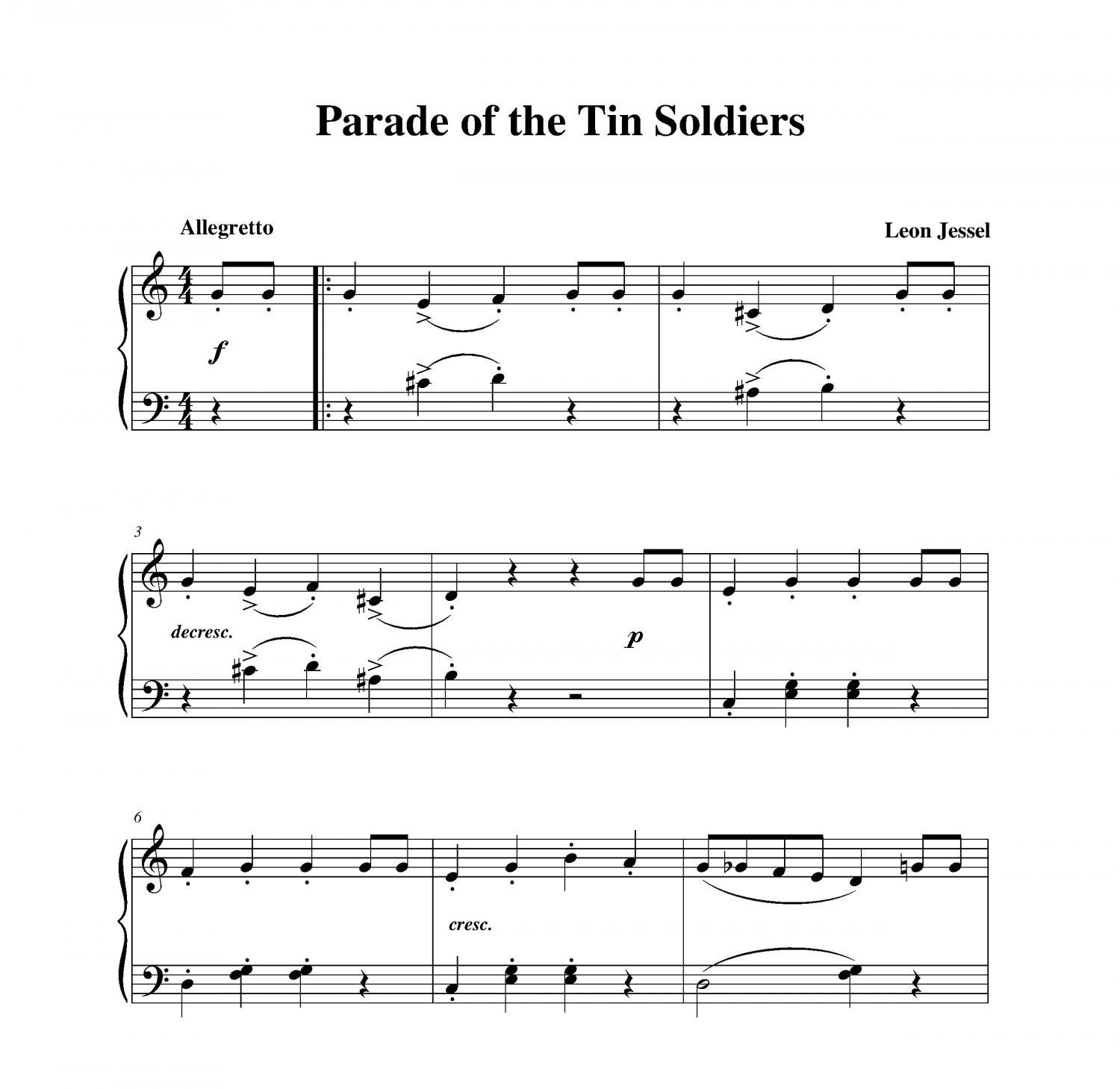 Jessel - Parade of the Tin Soldiers