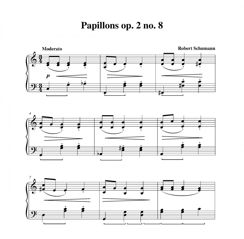 Schumann - Papillons op. 2 no. 8