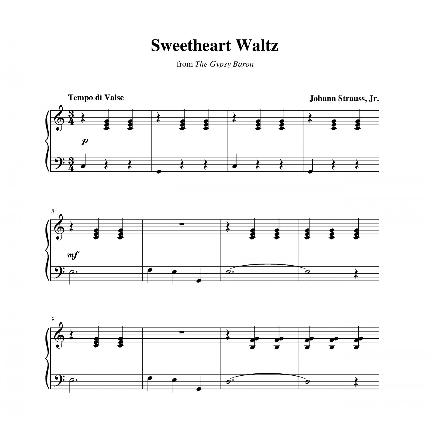 Strauss - Sweetheart Waltz