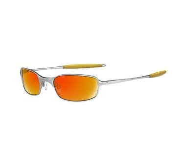 Oakley SQUARE WIRE 2.0 S/H Silver with Fire Iridium Lenses 05-687