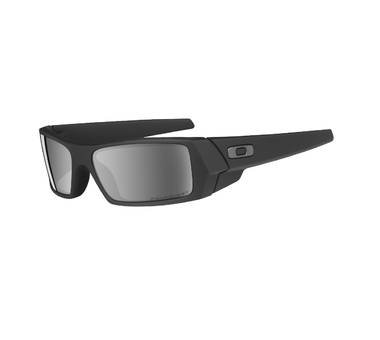 Oakley GASCAN Matte Black with Black Iridium POLARIZED Lenses 12-856