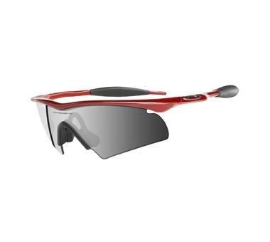 Oakley M FRAME HYBRID Metallic Red with Black Iridium Lenses 09-181