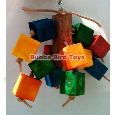Colored Pine Block Foraging Bird Toy SPROUT OUT USA Made