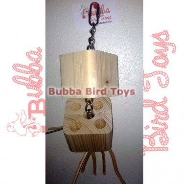 Natural Wood Puzzle Large Toy for Birds Peek A Boo USA Made