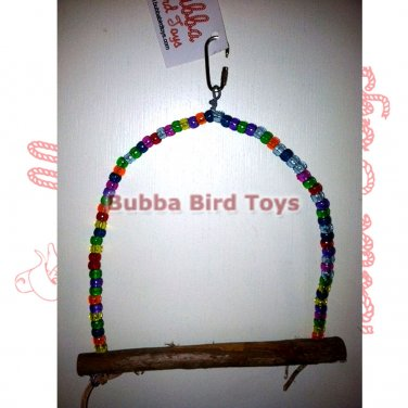 Cockatiel and Conure size Beaded Bird Swing