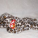 """GENUINE W/TAG """"FRECKLES"""" LEOPARD TY BEANIE BABIES PLUSH BEANBAG COLLECTIBLE TOY"""