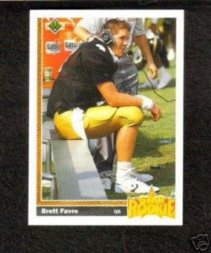 Brett Favre Rookie Upper Deck 1991 #13