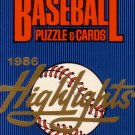 1986 Donruss HIGHLIGHTS Baseball SET Clemens Mantle