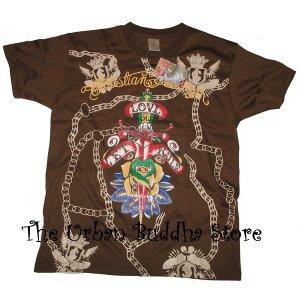 "Christian Audigier ""Let Love Rule"" T-Shirt Top"