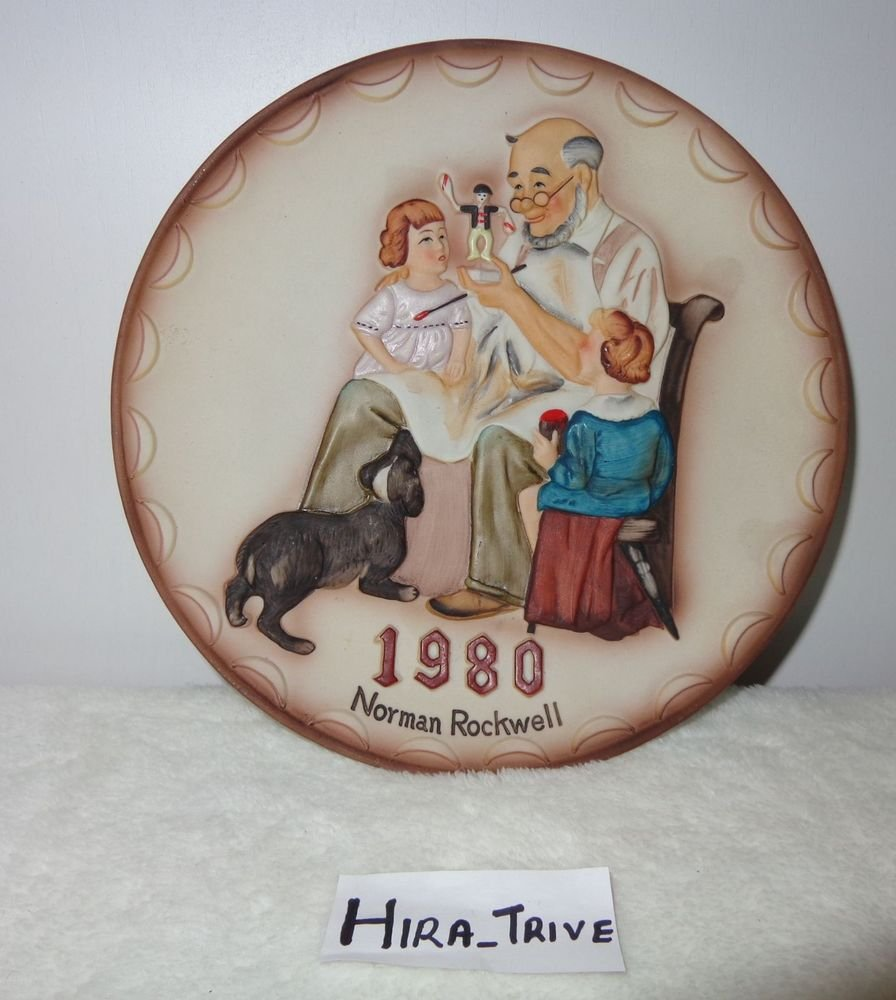 "Norman Rockwell 1980 ""The Toymaker"" First Annual Collector Collectible Plate"
