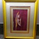 "Antique/Vintage ""Happy Moonchild"" Framed Painting Signed by Gordon Roberts 1977"