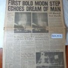 Nashville Banner July 21 1969 First Man Lands on the Moon Original Newspaper