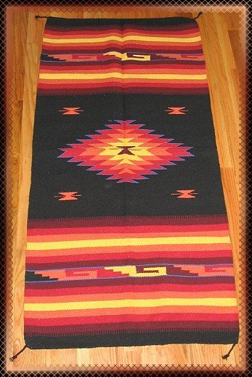 Southwestern Design Log Cabin Decor Rug 32 x 64 - #4