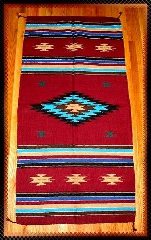 Southwestern Design Log Cabin Decor Rug 32 x 64 - #11