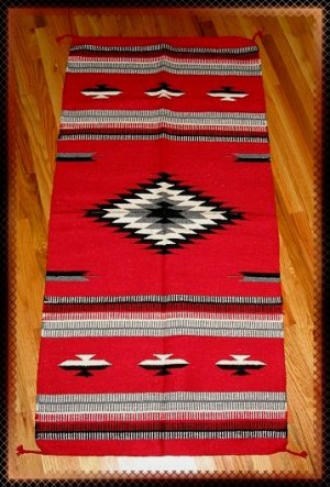 Southwestern Design Log Cabin Decor Rug 32 x 64 - #6