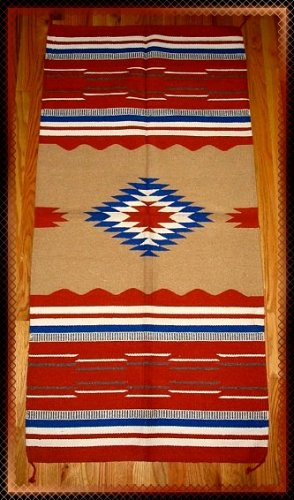 "Southwestern Design Log Cabin Decor Rug 32"" x 64"" - #1"