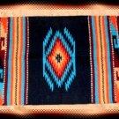 Southwestern Decor Log Cabin Rug Navy-Turquoise-Tan