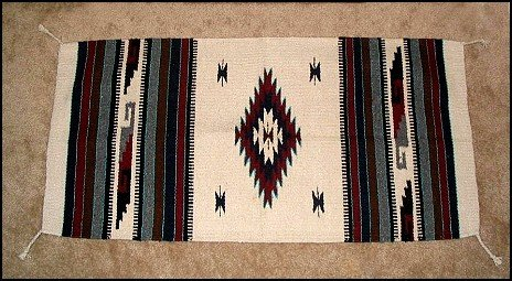 Southwestern Decor Log Cabin Rug Cream-Gray-Black-Burg