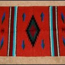 Southwestern Decor Log Cabin Rug RUST-GREEN-TEAL